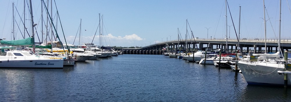 Green Bridge and Twin Dolphin Marina