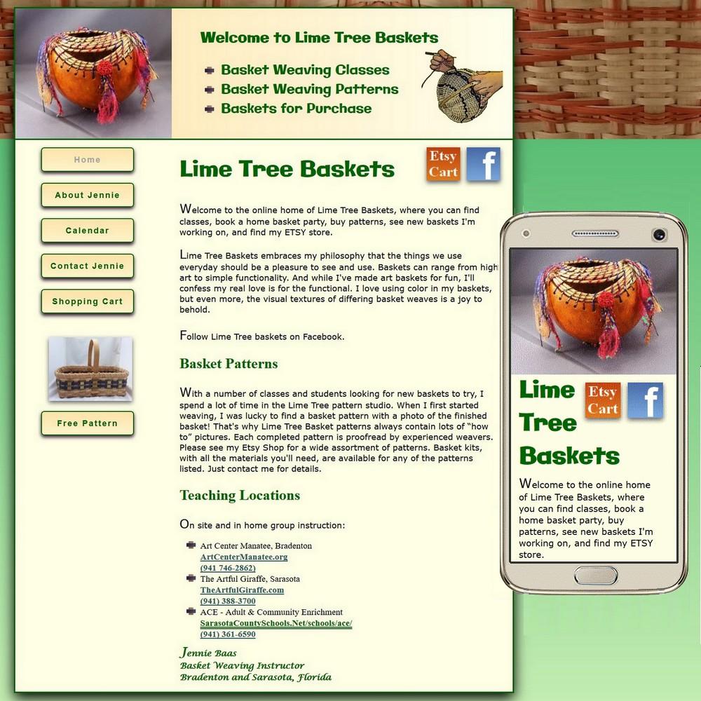 Lime Tree Baskets Website