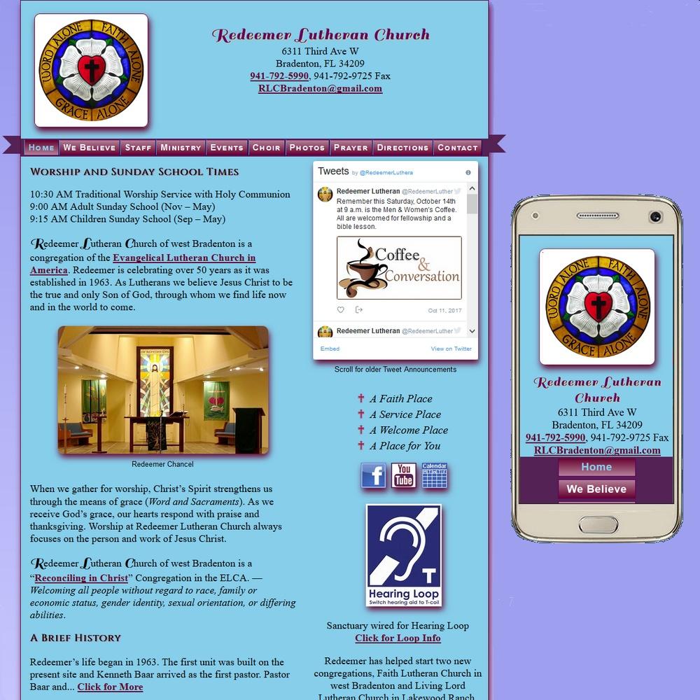 Website for Redeemer Lutheran Church