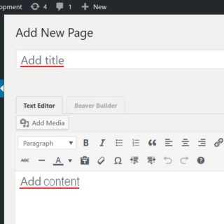 Add a New Page in WordPress